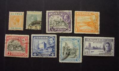 Cyprus, mint and used stamps as shown