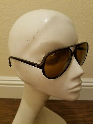Vintage Bausch & Lomb Ray-Ban Cats 5000 Aviator Sunglasses Black France