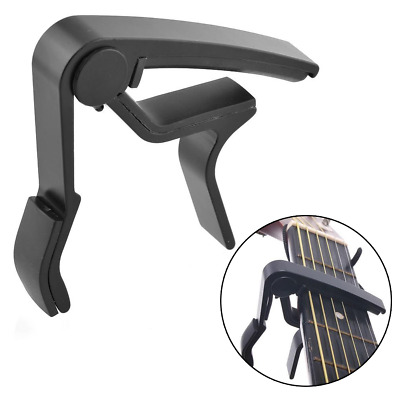 Hot Aluminium Metal Acoustic Guitar Bass Ukulele Capo Tune Clamp Black Useful