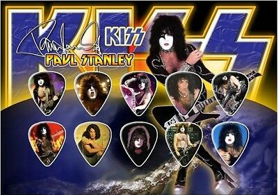 Paul Stanley Kiss - A5 Size Limited Edition - Guitar Pick Display