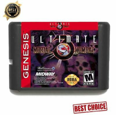 Mortal Kombat Cartridge 3 Ultimate 16 bit SEGA MD Game Mega Drive For Genesis