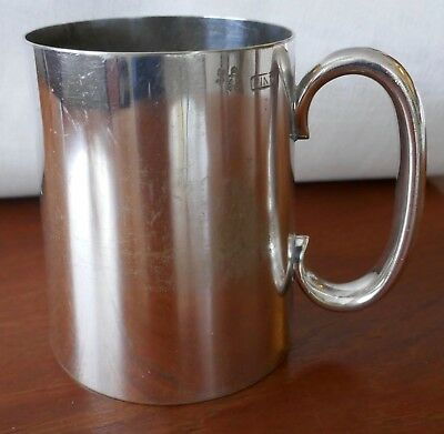 ANTIQUE (1920's?) ENGLAND ROBERT PRINGLE SILVER PLATE TANKARD ONE PINT
