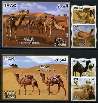 Irak Iraq 2014 Camels Dromedare Tiere Animals 1920-1923 Block 142 MNH
