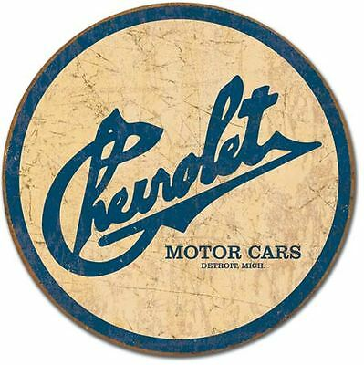 Chevrolet Motor Cars Tin Sign Garage Shed Rustic Chev