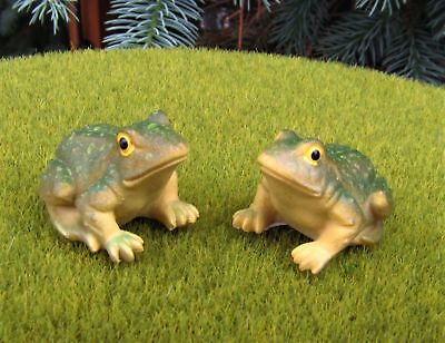 Miniature Fairy Garden Frogs - Set of 2 - Buy 3 Save $5