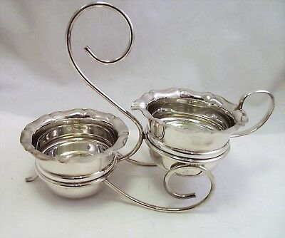 Vintage Silver Plated Milk / Cream And Sugar Stand