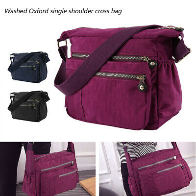 Women Nylon Handbag Lady Durable Shoulder Tote Purse Crossbody Messenger Bags
