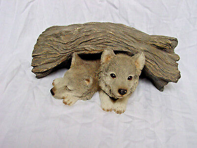 Sandicast Wolf, Gray (Pups) N105 Sculpture Figurine Hand Cast and Painted 2001