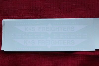 K&S FREIGHTERS 40ft container decals rib/curtainside  #159