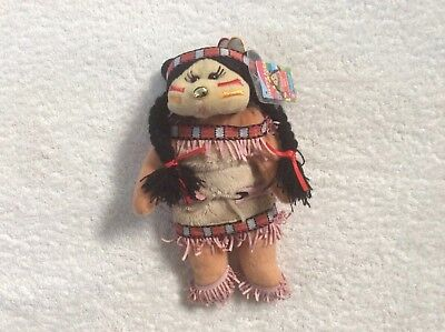 Beanie kids- Abey the Native American Bear Bk2-178 rare gold nose