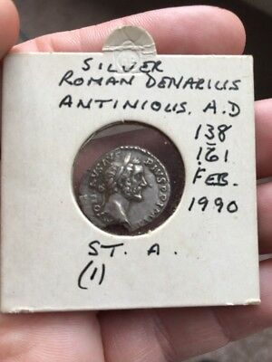 Silver Ancient Roman Denarius Coin Antonius AD 138-161 - Found In St. Albans