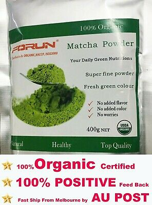 FORUN Organic Matcha,Green Tea Powder 400G- 100% Pure, Fresh Green