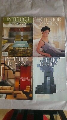 4 x Interior Design USA Magazine April 1997, August 1997, September 1999, March