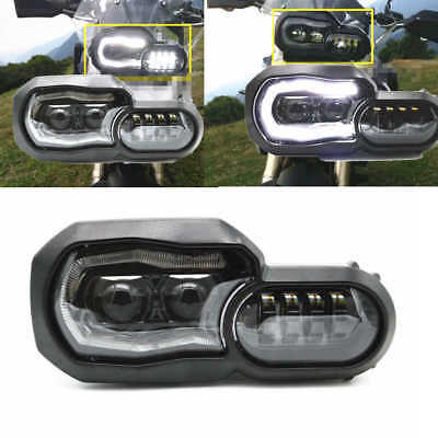 Bmw F650Gs F700Gs F800Gs & Adventure Led Headlight Projector Angel Eye Led White