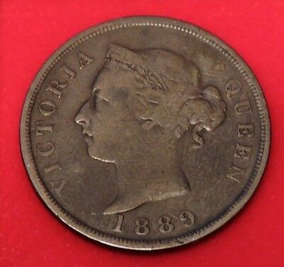 Cyprus 1 Piastre Queen Victoria 1889 Very Low Mintage 27000 Key Date!!!!
