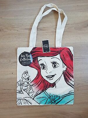 Disney Tote Linen Shopping Bag Bnwt Airiel The Little Mermaid Limited Edition Gi