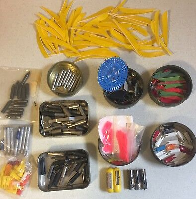Vintage Traditional Archery Arrow Accessories Over 200 Pieces Mixed Lot