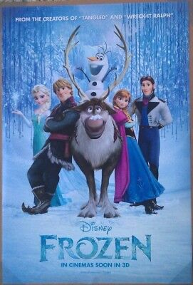 FROZEN MOVIE POSTER 2 Sided ORIGINAL VERY RARE INTL Version B 27x40 KRISTEN BELL