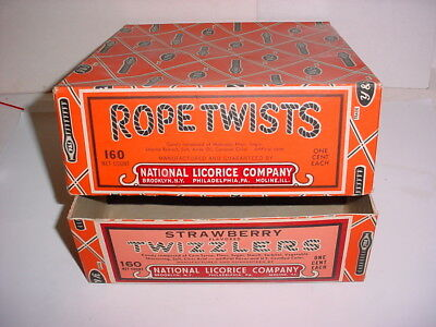 vintage Twizzlers Rope Twists licorice store display advertising candy box