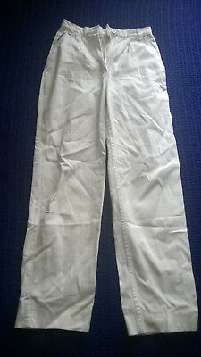 Vintage Genuine Falmers 1980's white high waisted cotton jeans size 10
