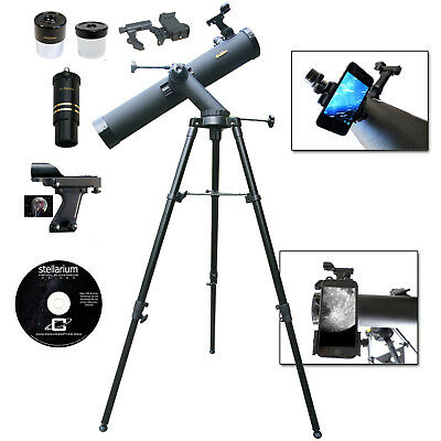 REFUBISHED Galileo 800mm x 90mm Telescope with Smartphone Adapter
