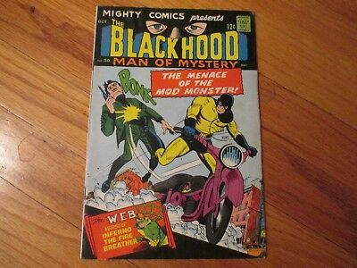 Mighty Comics The Black Hood Man Of Mystery # 50 1967 Fine Silver Age Comic
