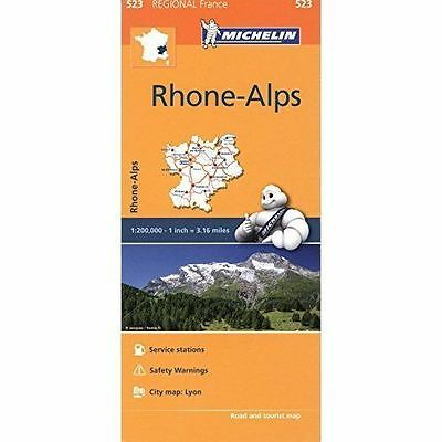 Rhone Alps Map - New Michelin 523 - France Regional Map - Current Edition