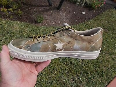 CONVERSE RARE ONE Star '74 Camo GREEN Camouflage size 9.5