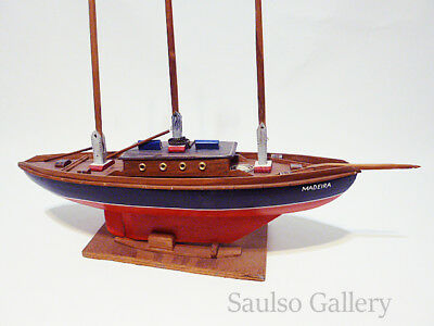 extremely Rare 1920's handmade clipper ship model from Nantucket family 24''