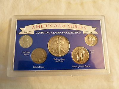 Americana Series Vanishing Classics Collection coins in case