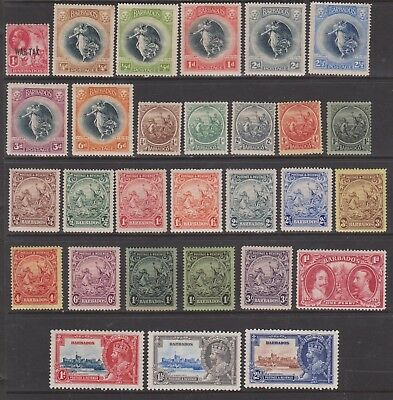 Barbados 1917/35 Selection Mounted Mint