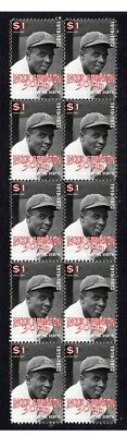 Jackie Robinson Baseball Legend Strip Of Mint Stamps 1