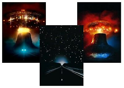 Close Encounters of the Third Kind  Classic Textless A5 A4 A3 Movie Poster Set