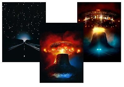 Close Encounters of the Third Kind  stunning Textless A5 A4 A3 Movie Poster set