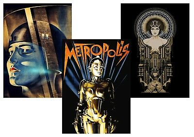METROPOLIS  Fritz Lang 1927 Classic Textless A5 A4 A3 Movie Poster set