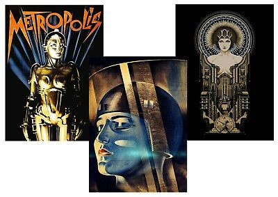 METROPOLIS  Fritz Lang 1927 Sci-Fi Classic Textless A5 A4 A3 Movie Posters