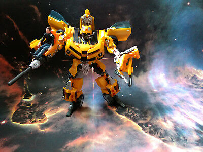 Human Alliance TRANSFORMERS - BUMBLEBEE + SAM WITWICKY Action Figure !!! TOP !!!