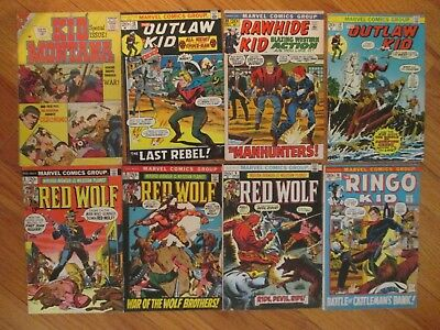 Marvel Red Wolf The Ringo Kid Outlaw Kid Rawhide Kid 8 Bronze Western Comic Lot