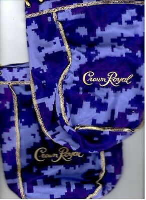 2 Crown Royal Camo Bottle Bag Limited Edition Rare new* digital camouflage 750ml