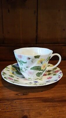 queens country meadow china tea cup and saucer