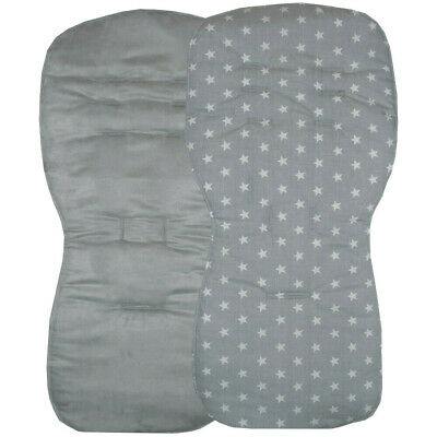 Reversible Seat Liners to fit Silver Cross Pursuit Pushchairs - Grey Designs