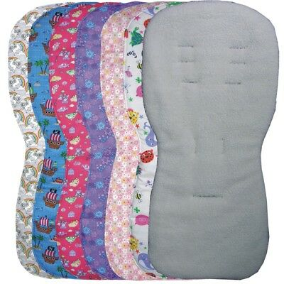 Reversible Faux Lambs Fleece Seat Liners to fit Silver Cross Pursuit pushchairs