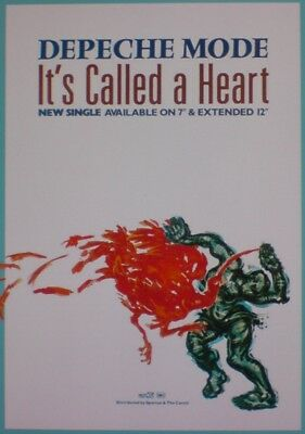 "Depeche Mode ""its Called A Heart"" 17 X 11 Promo Poster"