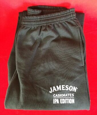 Jameson Caskmates IPA Edition Irish Whiskey Sweat Pants Size L Black