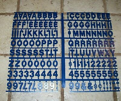 "New Blue 3/4"" Pepsi Menu Board Letters  Excellent Unused Condition!"