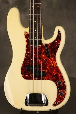 original 1966 Fender Precision P-Bass OLYMPIC WHITE!!!