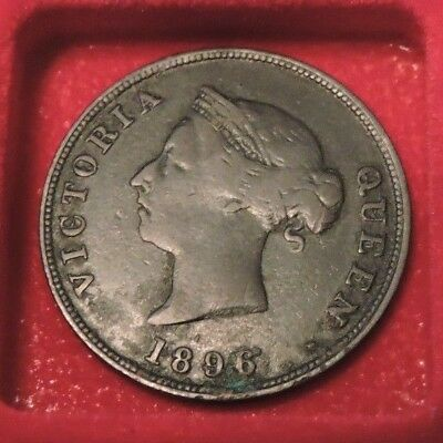 Cyprus 1/2 Piastre Queen Victoria 1896 F The Rarest From 1/2 Low Mintage