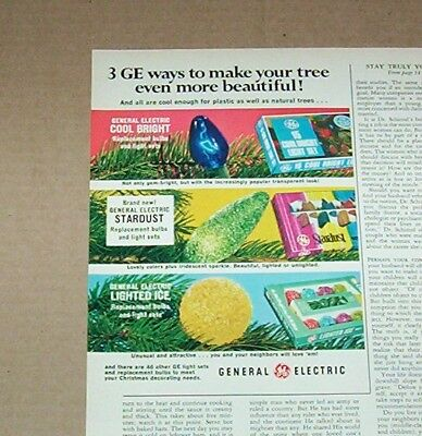 1971 print ad - GE General Electric Christmas tree lights bulbs OLD Advertising