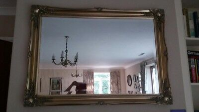 Large Wall Mirror Antique Brass Coloured