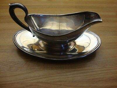 Gorham Silverplate Gravy Sauce Boat With Attach Underplate